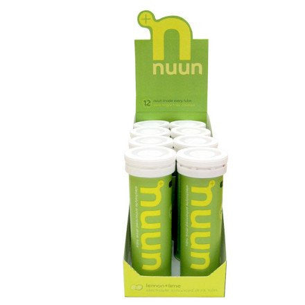 Nuun Electrolyte Tablets Tube 8 Pack Lemon+Lime, One Size