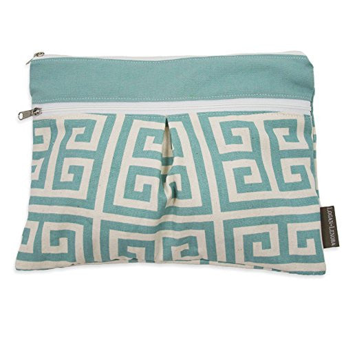 "Breezy Athenian Wet + Dry Diaper Clutch, 11"" x 8"""