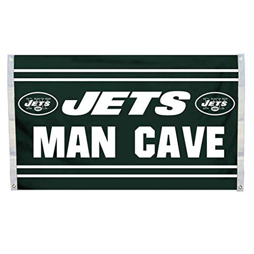 3' X 5' FLAG (MAN CAVE) - NEW YORK JETS