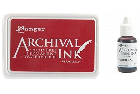 #0 Archival Ink Pad Vermillion and Archival Reinker Vermillion