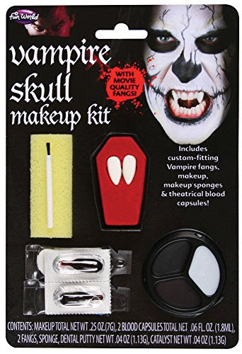 Skull Vampire Makeup and Fangs Kit