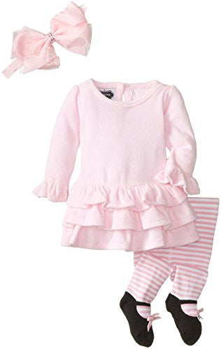 Velour Dress W/ Tights,Size: 9-12 months