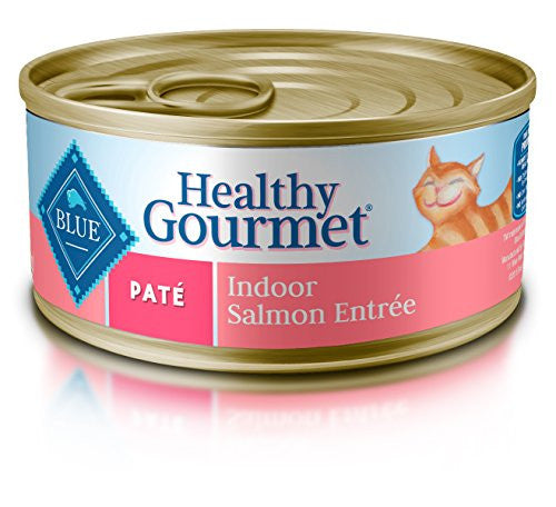 Blue Buffalo Blue Pate Indoor Salmon Food, (Pack of 24, 5.5 oz.)