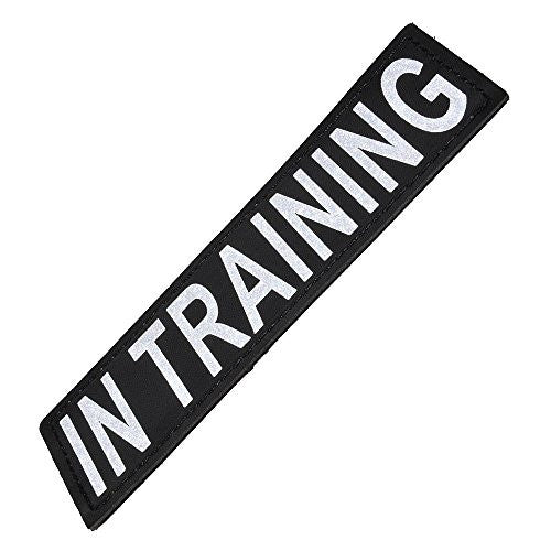 "Reflective Removable Patch ""IN TRAINING"" S/M (set of 2)"