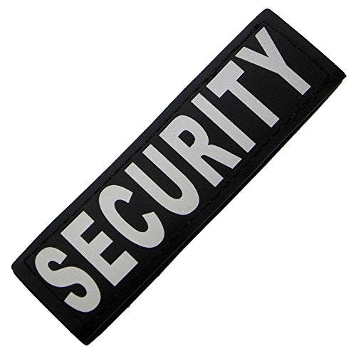 "Reflective Removable Patch ""SECURITY"" L/XL (set of 2)"