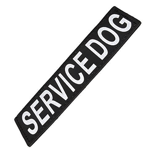 "Reflective Removable Patch ""SERVICE DOG"" S/M (set of 2)"