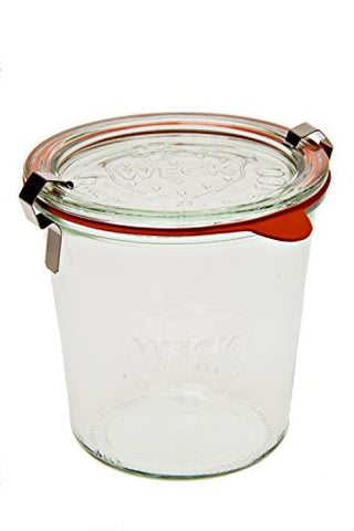 ½ L Mold Jar (6 jars w/ glass lids, 6 rings, & 12 clamps)