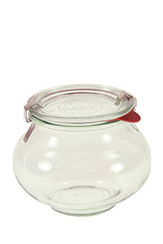 ½ L Deco Jar (6 jars w/ glass lids, 6 rings, & 12 clamps)