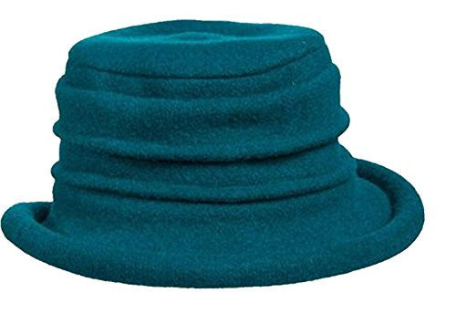 Scala Collezione Women's Boiled 100% Wool Cloche Hat (Teal / One Size)