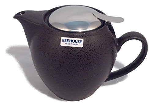 Bee House Ceramic 22 Ounce Round Teapot (Charcoal)