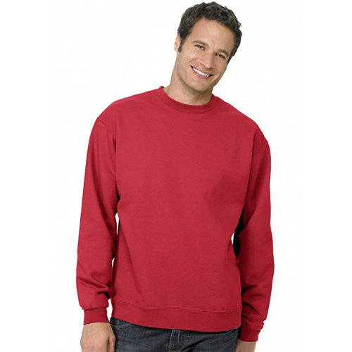Hanes ComfortBlend Long Sleeve Fleece Crew - p160 (Deep Red / Small)