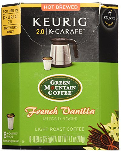 Green Mountain Coffee French Vanilla - K Carafe, 8 ct