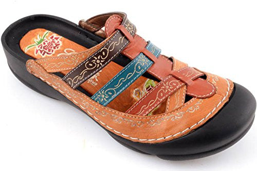 Corkys Womens Elite Rock Slip On Clogs Sandals,Amber Multi,11