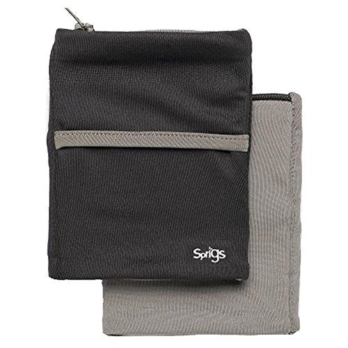 BIG BANJEES WRIST WALLET Breathable, Lightweight, Easy Access to Phone, etc.,One Size,Black/Grey
