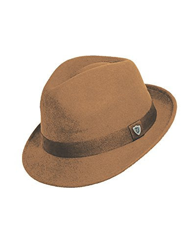 Dorfman Pacific Men's Wool Felt Snap Brim Hat (Putty / Medium)