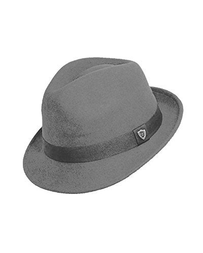 Dorfman Pacific Men's Wool Felt Snap Brim Hat (Grey / Large)