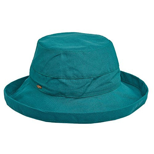Scala Hats Medium Brim Cotton Hat (Teal)
