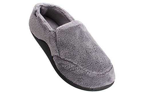 Microterry Slip On, Charcoal, X-Large