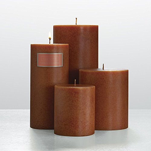 4x4 Round Pillar Candle - Heirloom Pumpkin