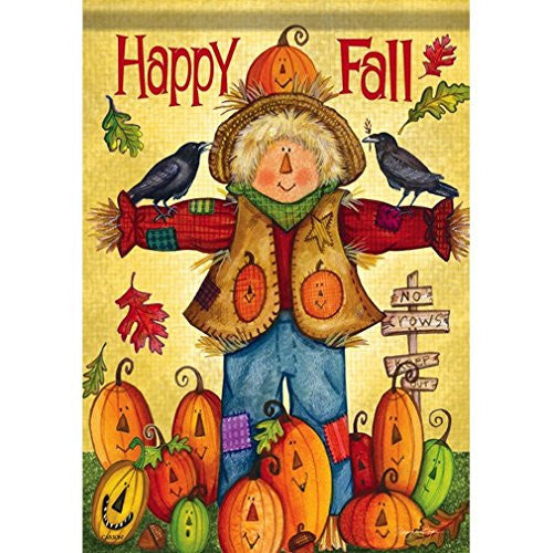 Happy Fall Scarecrow Large Dura Soft Flag