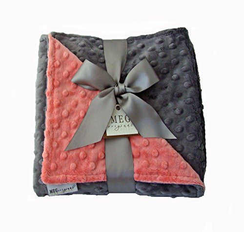 Coral & Charcoal Blanket