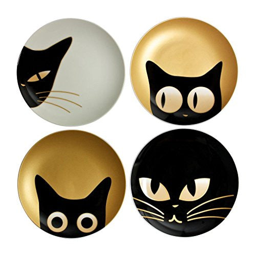 "Cat Eyes Plate 6.5"" Set of 4"