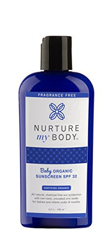 Nurture My Body Organic Baby Sunscreen 32 SPF 4 oz.