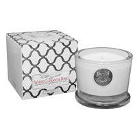 White Currant & Rose 5 oz. Candle w/ Lid in Gift Box