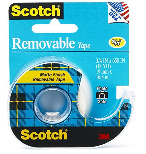 3M TAPE 224 REMOVEABLE 3/4X18YD