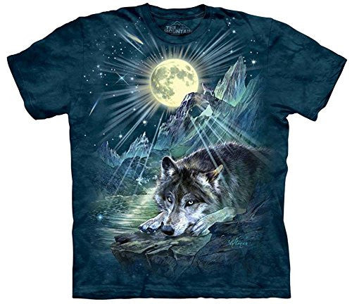 The Mountain Unisex Wolf Night Symphony Adult Large