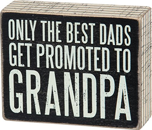 Box Sign - Promoted to Grandpa