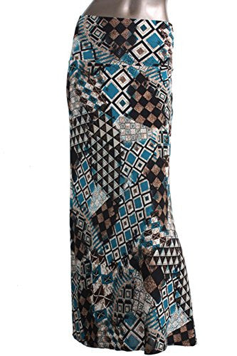 Azules Women's Maxi Skirt -Stretchy, Soft Fabric (F18 / Medium)