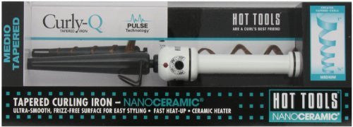 HOT TOOLS HTBW1851 Medium Tapered Curling Iron, Black/White, 1/2 to 1 Inch by Hot Tools
