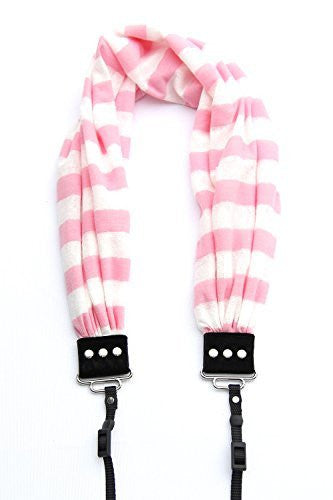 SCARF COLLECTION -  DSLR CAMERA STRAPS - PINK STRIPE