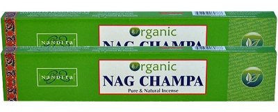 Organic Nag Champa Incense Sticks - 40 gr Pack - pack of 2