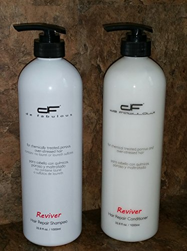 (2 Piece Bundle Pack) Reviver Hair Repair Shampoo, 33.8oz and Reviver Hair Repair Conditioner, 33.8oz