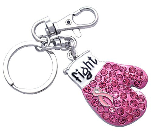 Fight Like A Girl Boxing Glove Cancer Awareness Key Chain