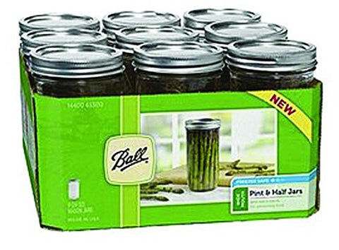 Wide Mouth Jar 1.5 Pint (24 oz) Set of 9