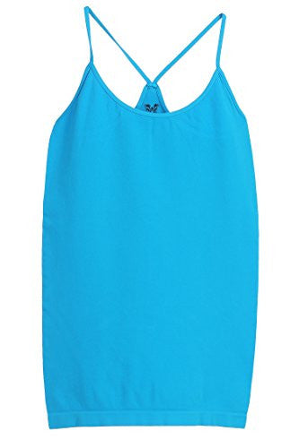 Idea, Point Up Strap Back Cami Top, Turquoise