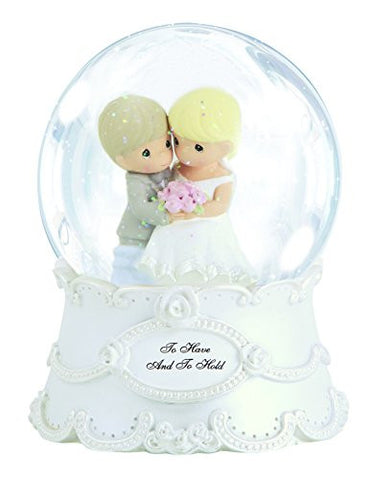 """To Have And To Hold"" 100mm Musical Water Globe Tune: The Wedding March Material: Resin/Glass, 5.5"""