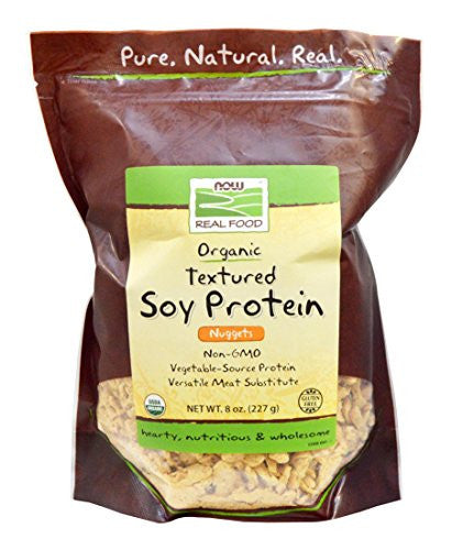 Organic Textured Soy Protein (T.S.P.) Nuggets Now Foods 8 oz Bag
