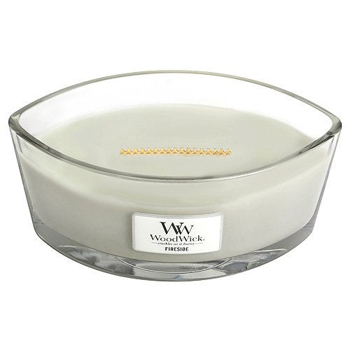 "WoodWick Fireside Ellipse Jar Hearthwick Flame Scented Candle, 7.5"" x 4.75"" x 3.63"""
