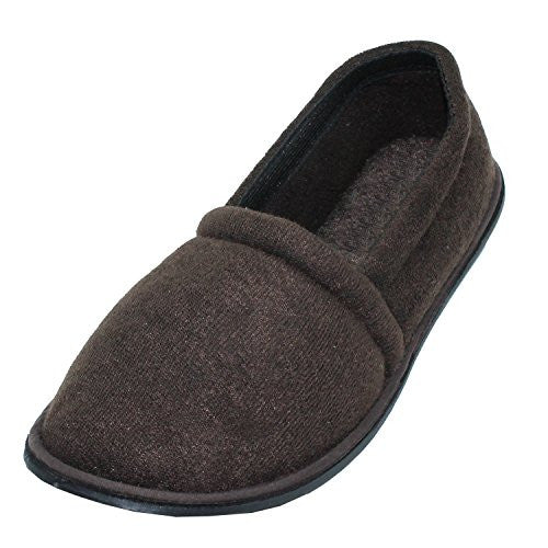 Wholesale Men's Terry House Slippers, Brown, S, Size 7/8
