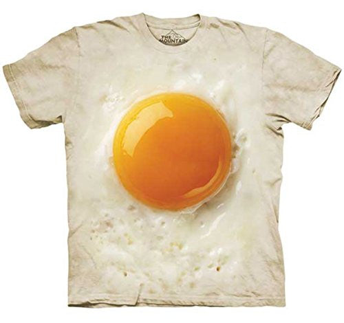 Fried Egg, Loose Shirt - White Adult Small