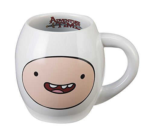 Adventure Time Finn 18 oz. Oval Mug, White 5.5 x 4 x 4.5""