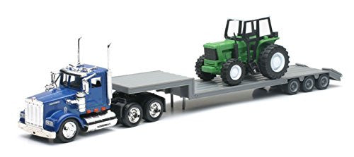 1/43 Kenworth W900 Lowboy with Farm Tractor