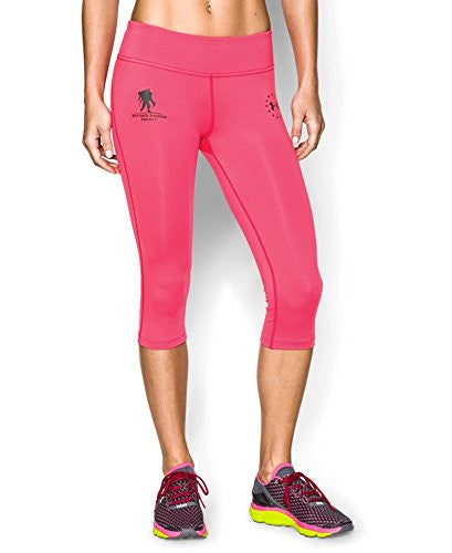 UNDER ARMOUR Women's WWP Capri Pink Shock/Black Small