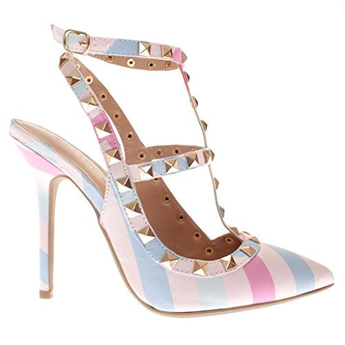 Wild Diva Adora-63B Pumps-Shoes, Pastel Multi Fabric, 9