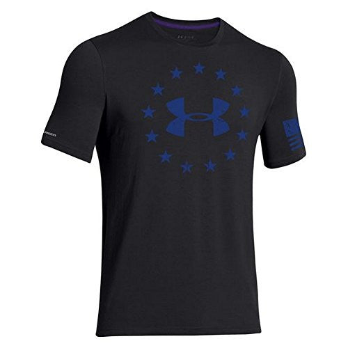 UNDER ARMOUR UA Men's Freedom T-Shirt Black/Royal XXLarge