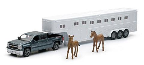 1/43 Chevrolet Silverado Pick Up with Horse Trailer
